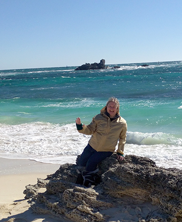 Anne at Rottnest Island
